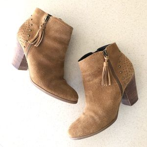 Guess 'Flores' Studded Block Heel Bootie. Size 10